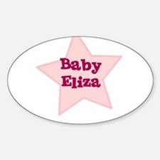 Baby Eliza Oval Decal