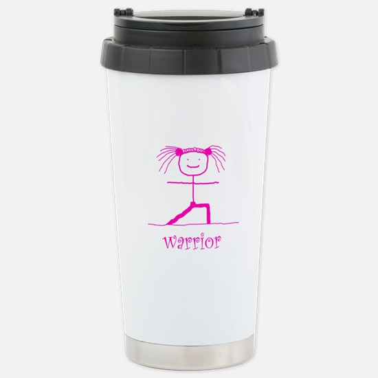 Warrior (Pink): Stainless Steel Travel Mug