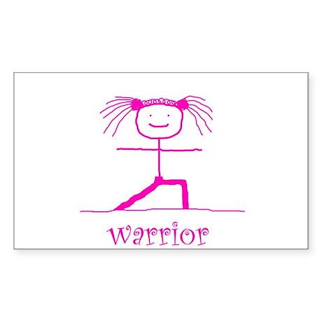 Warrior (Pink): Rectangle Sticker
