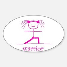 Warrior (Pink): Oval Decal