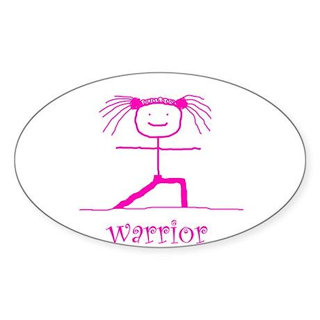 Warrior (Pink): Oval Sticker