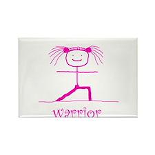 Warrior (Pink): Rectangle Magnet
