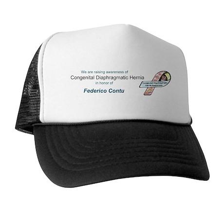 Frederico Contu CDH Awareness Ribbon Trucker Hat
