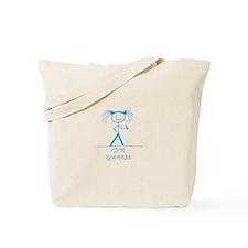 Gym Goddess (Blue): Tote Bag