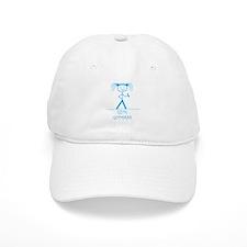 Gym Goddess (Blue): Baseball Cap