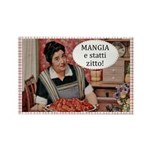 Mangia Fridge Rectangle Magnet