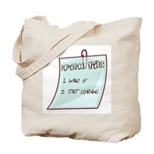 Homeschool Schedule Tote Bag