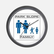 Park Slope Mommy and Daddy Wall Clock