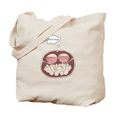Twin Baby Boys in Belly Tote Bag