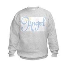 Angel Text Sweatshirt