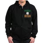 Proud Irish Zip Hoodie (dark)