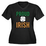 Proud Irish Women's Plus Size V-Neck Dark T-Shirt