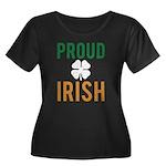 Proud Irish Women's Plus Size Scoop Neck Dark T-Sh