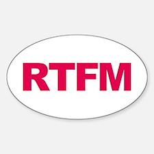 RTFM Sticker (Oval)