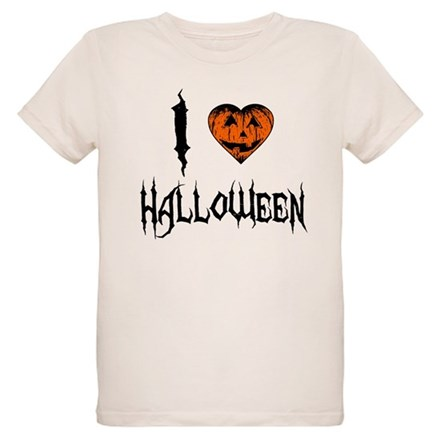I Love Halloween Organic Kids T-Shirt