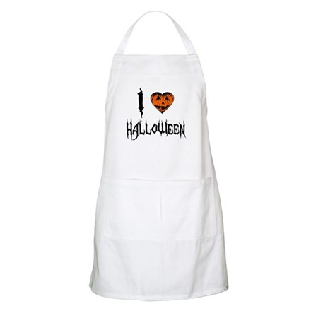 I Love Halloween BBQ Apron
