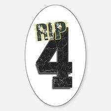 #4 Brett Favre Funeral RIP Oval Decal