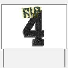 #4 Brett Favre Funeral RIP Yard Sign