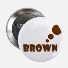 """Brown Thinking 2.25"""" Button (10 pack)"""