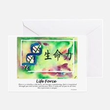 Life Force. Tao Meditation Greeting Card