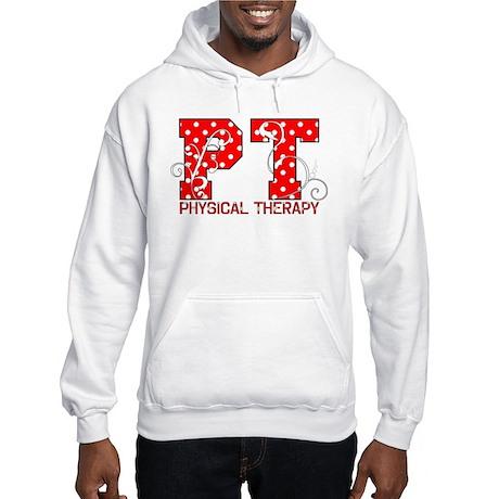 Polka Dot Hooded Sweatshirt