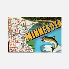 Minnesota State Map Magnets