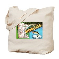 Cute State of minnesota Tote Bag