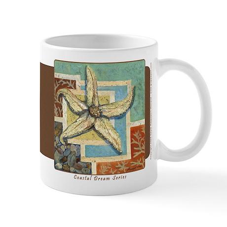 Coastal Dreams Sea Star Mug - Coffee Brown