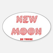 New Moon 11/20/09 Oval Decal
