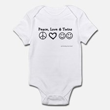 Peace, Love & Twins Infant Creeper