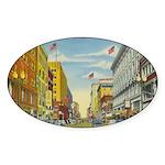 1940's Minneapolis Nicollet Avenue Sticker (Oval 1