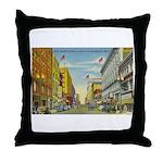1940's Minneapolis Nicollet Avenue Throw Pillow