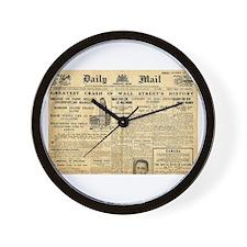 Wall Street Crash, 1929 Version Wall Clock