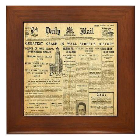 Wall Street Crash, 1929 Version Framed Tile