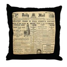 Wall Street Crash, 1929 Version Throw Pillow