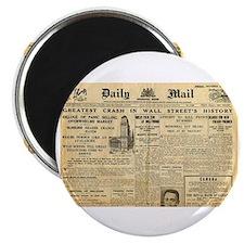 Wall Street Crash, 1929 Version Magnet