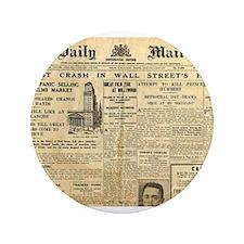 "Wall Street Crash, 1929 Version 3.5"" Button"