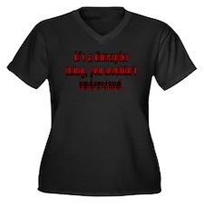 Therapist Women's Plus Size V-Neck Dark T-Shirt