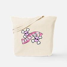 Punk Skulls Bad Kitty Tote Bag