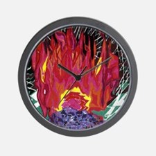Fire on a Plane of Existence Wall Clock