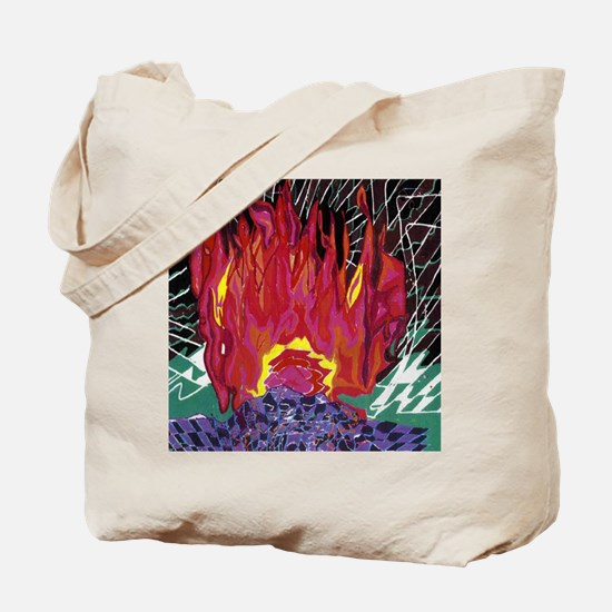 Fire on a Plane of Existence Tote Bag