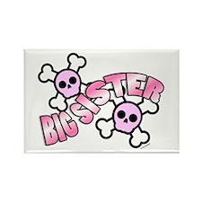Punk Skulls Big Sister Rectangle Magnet