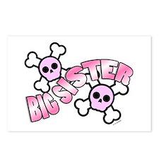 Punk Skulls Big Sister Postcards (Package of 8)