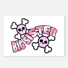 Punk Skulls Big Sister Postcards (Package of 8)