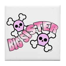Punk Skulls Big Sister Tile Coaster