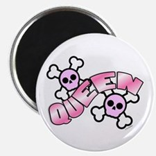 "Punk Skulls Queen 2.25"" Magnet (10 pack)"