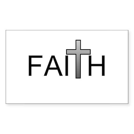 Faith Rectangle Sticker