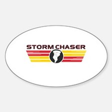 Storm Chasers Logo Bar Oval Decal