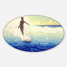 Hawaii Surfer Oval Decal