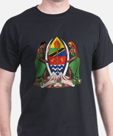 Tanzania Coat Of Arms Black T-Shirt
